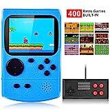 Kiztoys Consola de Juegos Portátil,Consola Retro 400 Juegos Clásicos y Pantalla a Color de 2.8 Pulgadas...