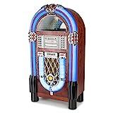 AUNA Graceland TT Jukebox Vintage - Bluetooth, Reproductor CD, Puerto USB, Tarjetas SD/MMC, Compatible MP3,...