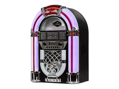 Tocadiscos Jukebox retro morado