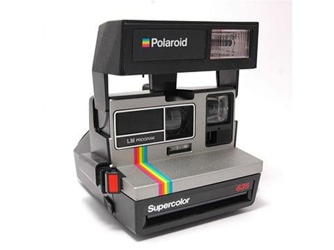 Cámara Polaroid retro