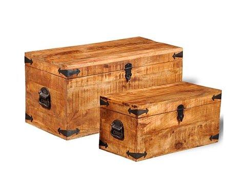 Baúl rústico de madera