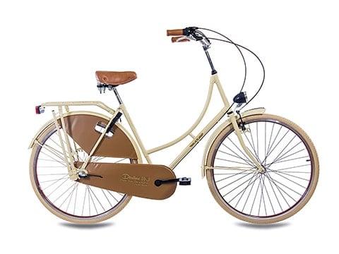 Bicicleta vintage de paseo en madera
