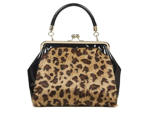 Bolso retro estampado leopardo
