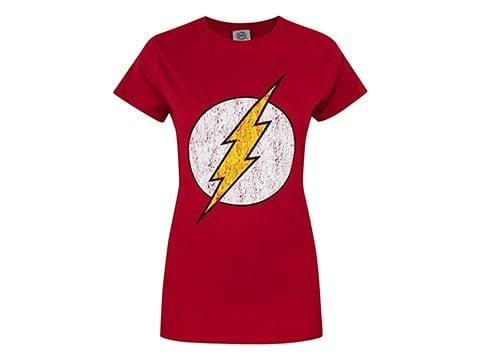 Camiseta retro Flash para mujer