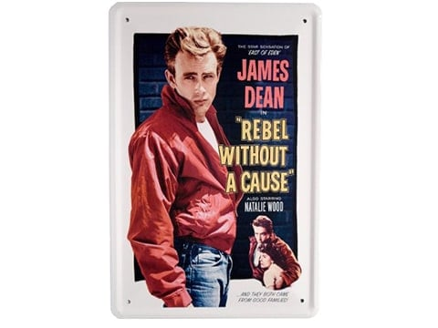 Cartel retro James Dean
