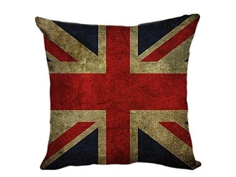 Cojín vintage con bandera de Inglaterra