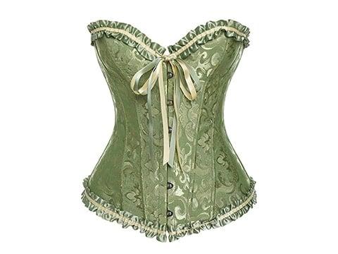 Corset victoriano verde