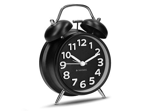 Despertador de campana retro negro
