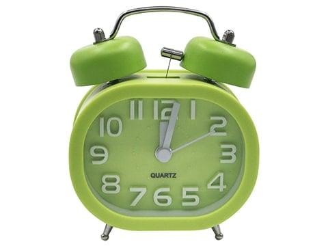 Despertador vintage de campana color verde