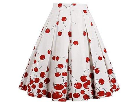 Falda pin up estampado cherrys