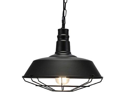 Lámpara industrial negra