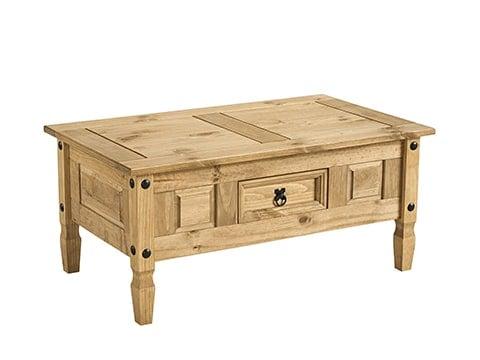 Mesa de centro rústica de madera