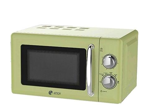 Microondas diseño vintage verde