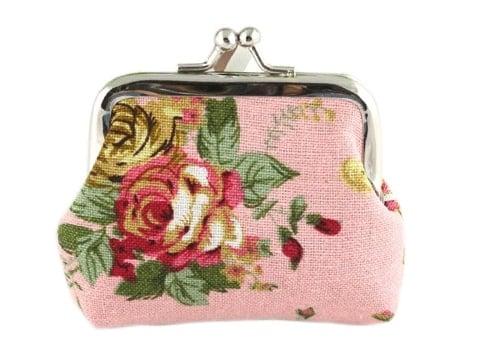 Monedero vintage estampado de flores