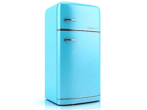 Nevera retro combi azul