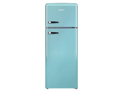 Refrigerador combi retro Amica azul