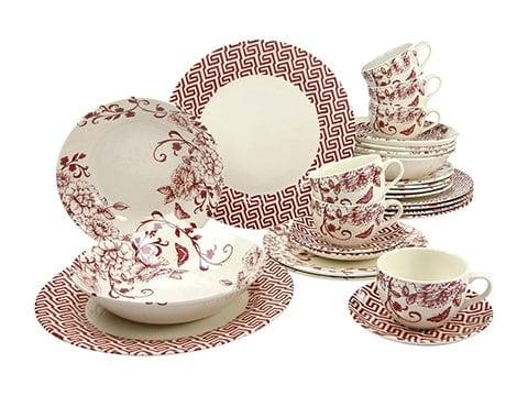 Vajilla retro Creatable de porcelana