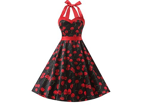 Vestido pin up estampado cherry