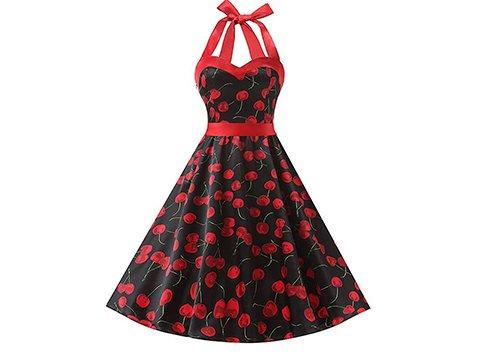 Vestido pin up estampado cherry