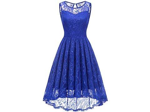 Vestido vintage encaje azul