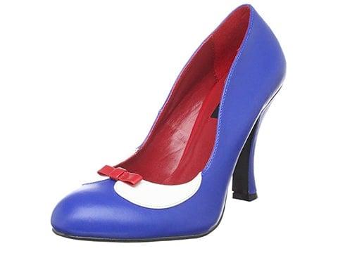 Zapatos de tacón retro con lazo