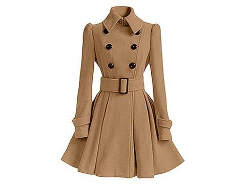Abrigo retro marrón