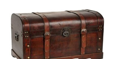 Baúl vintage de piel
