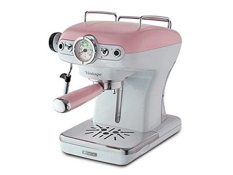 Cafetera retro Ariete rosa