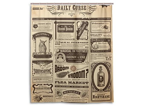 Cortina de ducha vintage