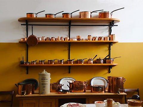 Adornos de cocina vintage en cobre