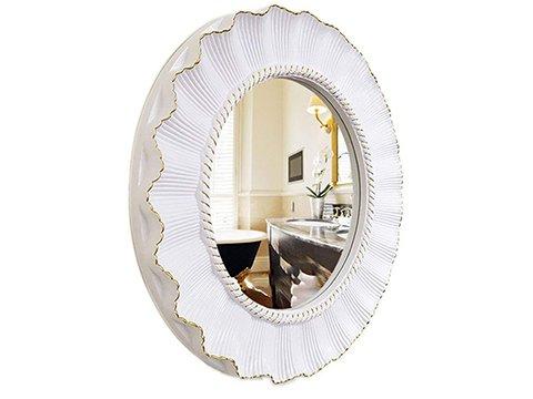 Espejo vintage blanco y oro