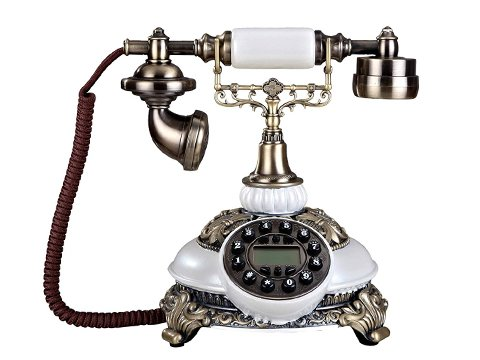 Teléfono vintage con cable