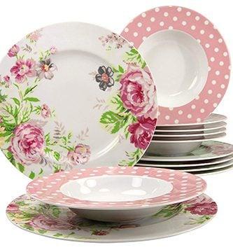Vajilla vintage de porcelana