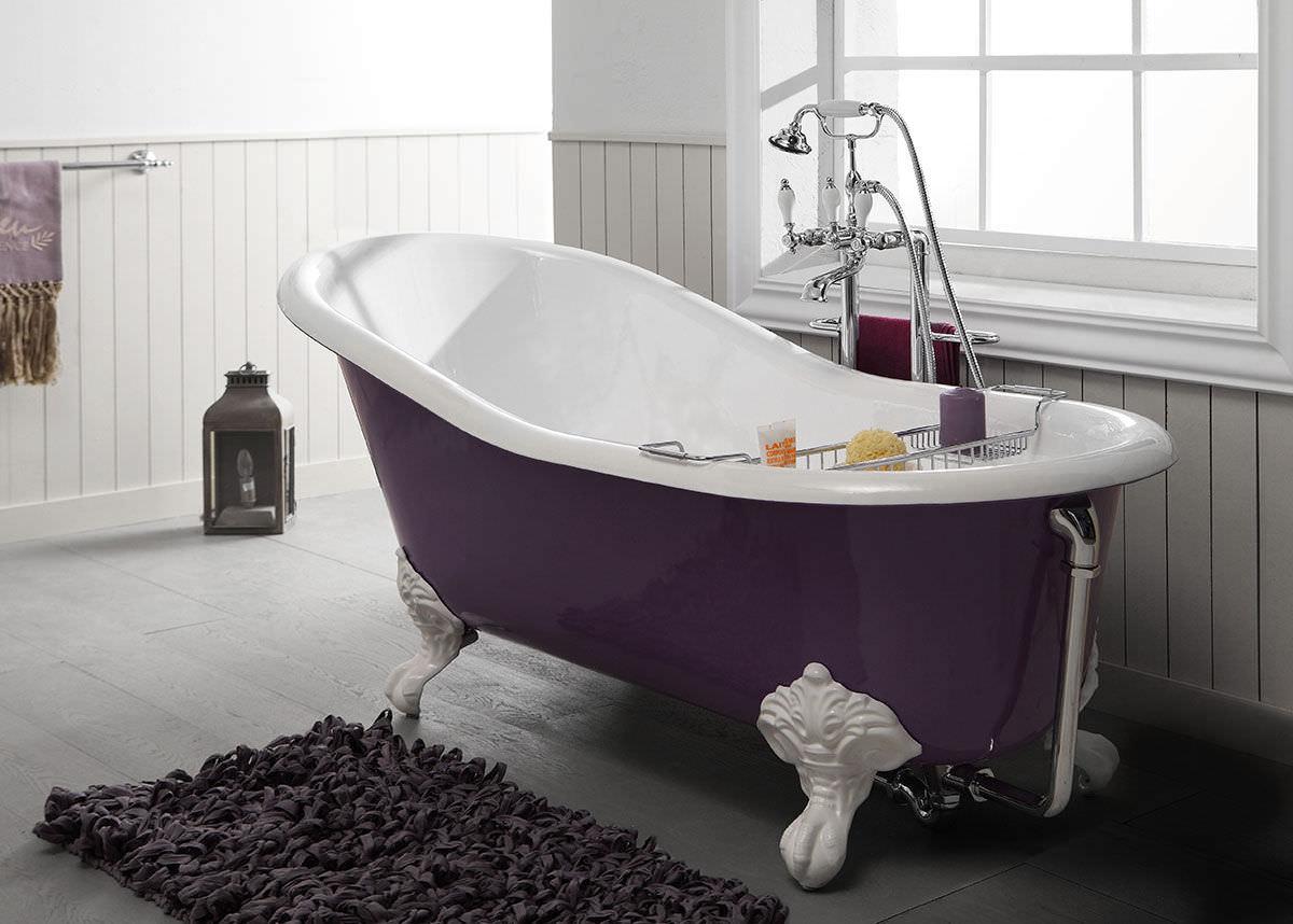 Decoración baño - Bañera con patas