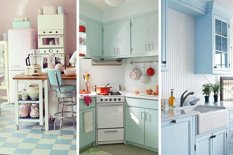 Colores pastel para decorar tu Cocina vintage