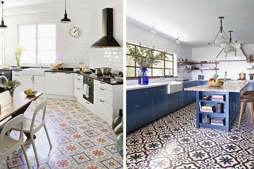 Cómo decorar tu cocina con suelos vintage