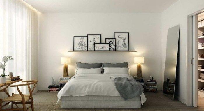 Dormitorio decoración nordica