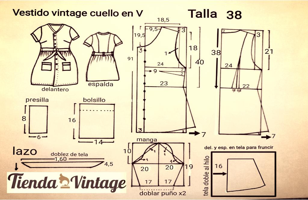 5 Patrones Gratis De Costura Vintage Para Hacer En 15