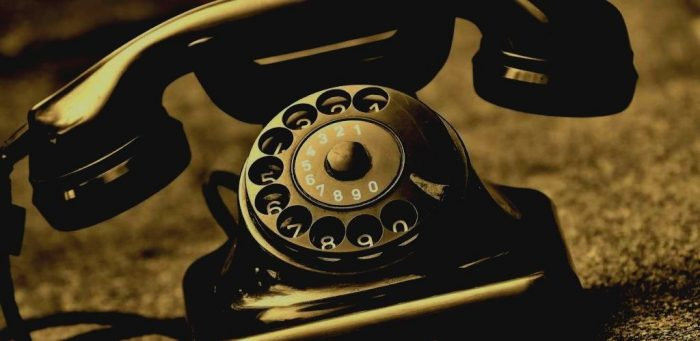 Teléfono de rueda retro