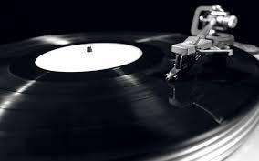 Disco en gramófono-tocadiscos