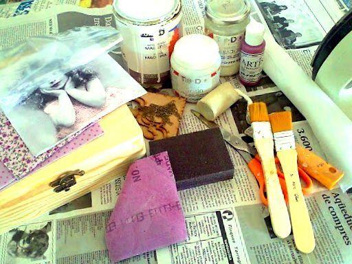 Materiales para tecnica decoupage