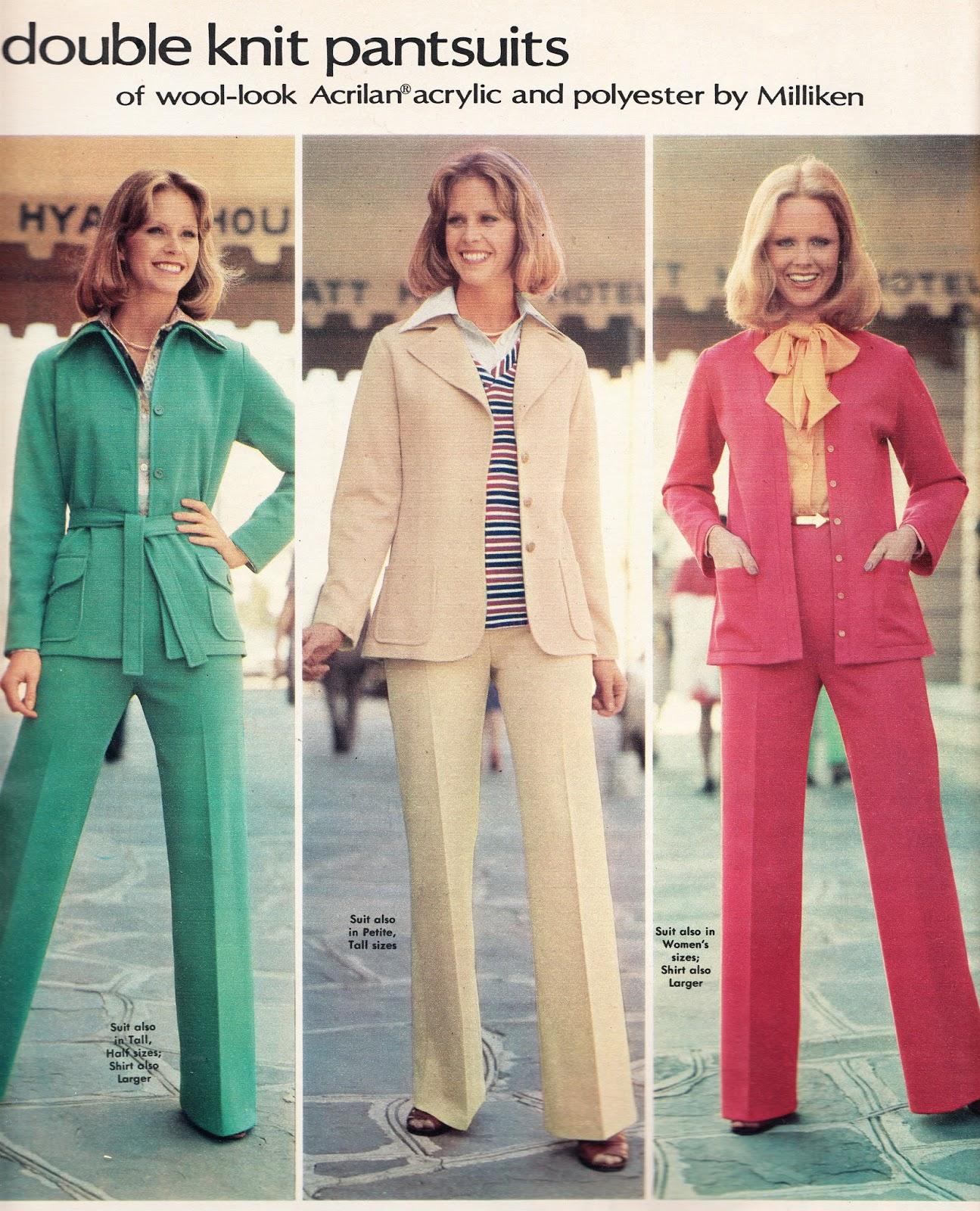 Trajes de mujer de los 70
