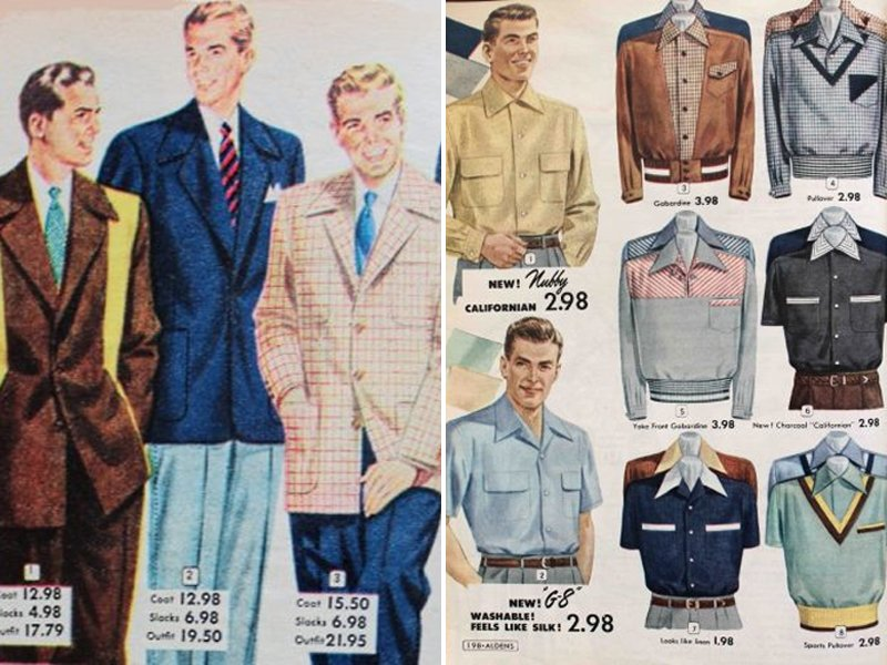 50s Mens Leisurewear