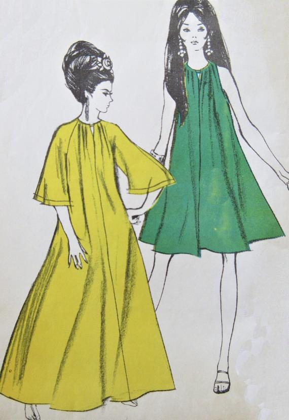 Vestido Trapecio Vintage
