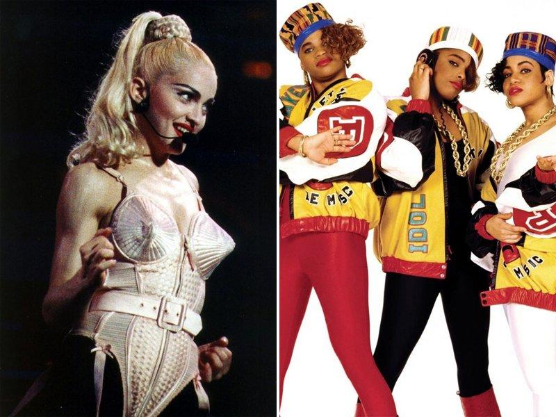 1980s Music Fashion Madonna Salt N Pepa