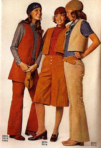 Chalecos para mujeres de los años 70