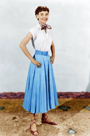Audrey$0027s costume test for Roman Holiday