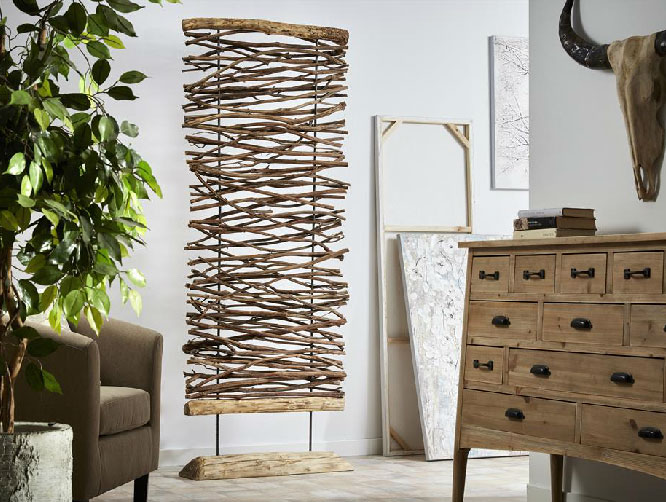 Ideas de decoración vintage con ramas de árboles