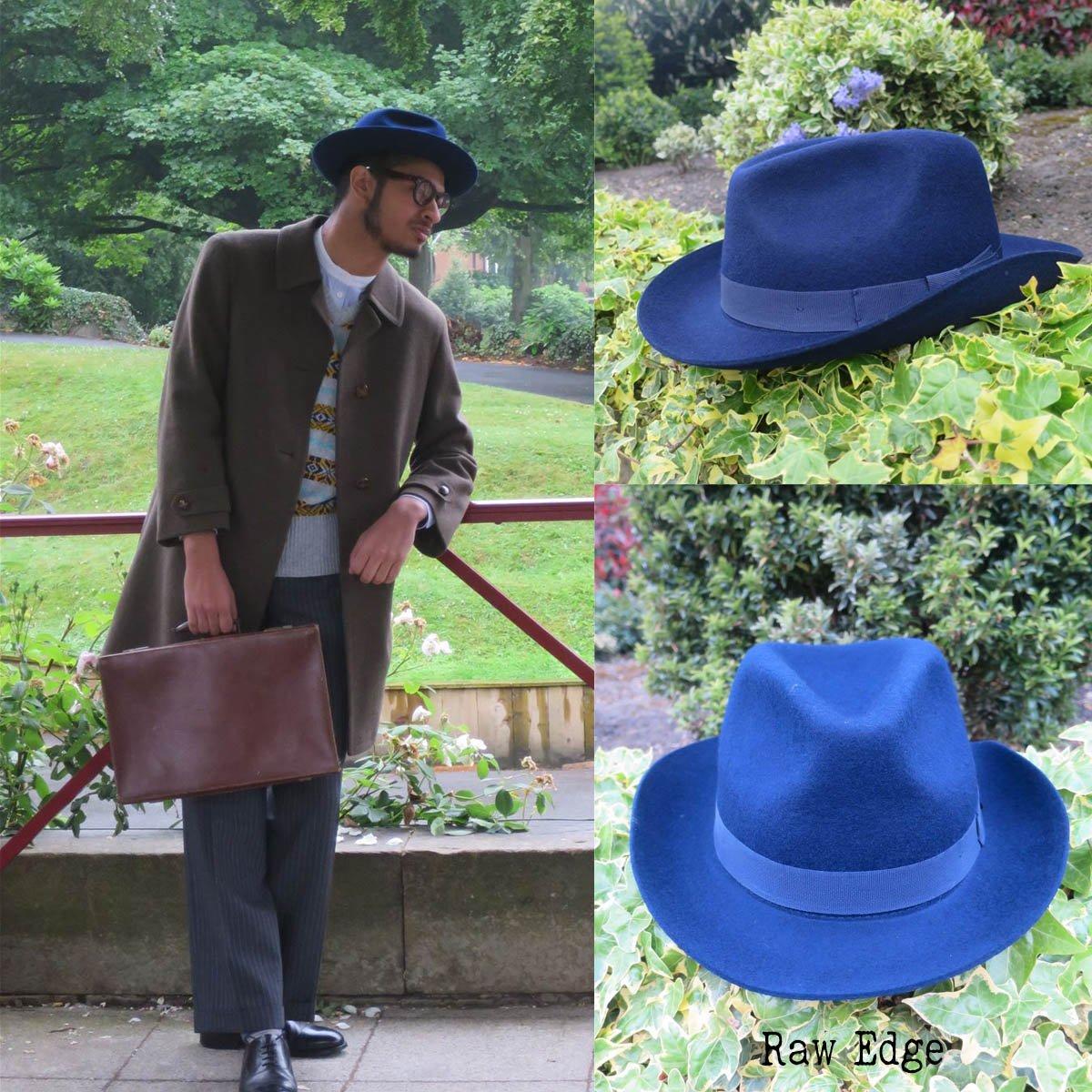 sombrero fedora raw edge