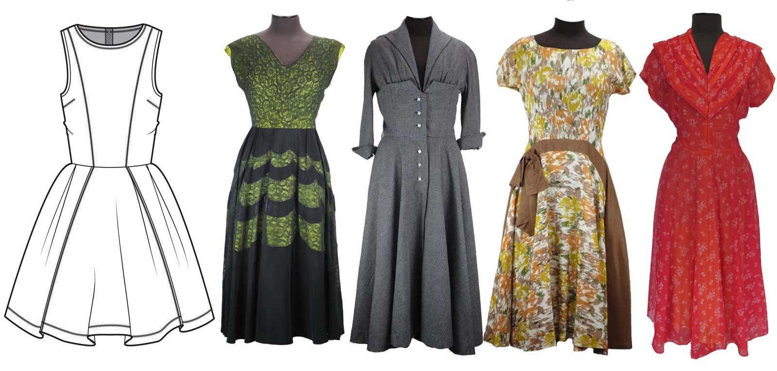 Vestido vintage Fit and Flare